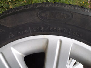 Ford Flex rims and winter tires