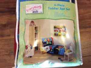 4 piece toddler boy bedding set and picture. New. St. John's Newfoundland image 1