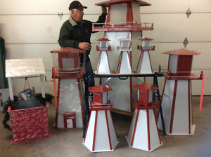 New medium size hexagon lighthouses & wishing wells
