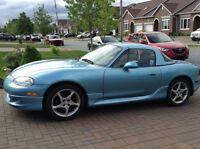 MX5 crystal blue roadster