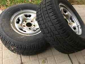 ARTIC CLAWS SNOW TIRES W/RIMS--- 2-ONLY Cambridge Kitchener Area image 1