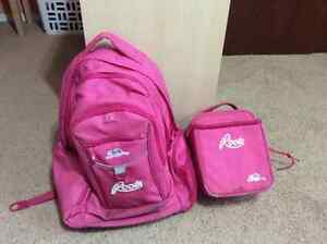 Pink Roots Backpack and Lunch Kit