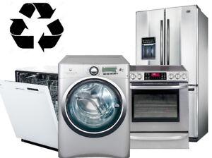 Récupération électroménager a domicile GRATUIT,  450-501-9775
