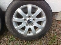"GENUINE 15"" VW GOLF MK5 MISANO (9 SPOKE) ALLOYS PCD 5X112"
