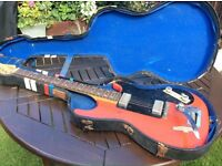 vintage and rare hofner colorama 1964 electric guitar with hard case, cheap price for quick sale@@!!