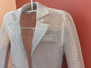 Art Piece:  metal jacket on a stand . A decorator item Edmonton Edmonton Area image 3