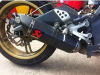 Yamaha yzf 125 r akaprovic full exhaust system