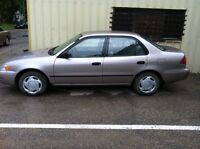 TOYOTA COROLLA RUST FREE SAFETIED/CRUSE&A/C!!