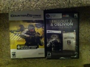 PC games. Ghost recon. Fallout 3 and oblivion. Counterstrike