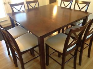 Bar Height 9 (Table and 8 x chairs) piece Dining Set