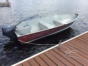 14' Lund Aluminum Boat 20hp Electric Start Yamaha 4-Stroke Motor
