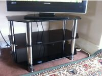 Glass TV/DVD table