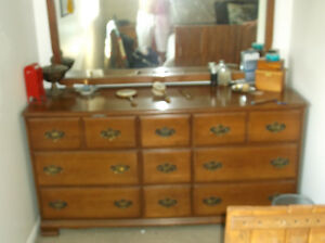 Dresser with nightstand