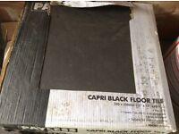 Black Floor Tiles 14 boxes