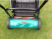 Bosch light weight lawn mower as new Used once .