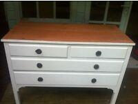 Hardwood antique chest