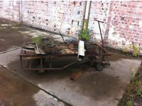 Vintage/ antique 4 wheel barrow
