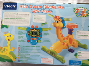 Interactive bounce & ride giraffe learning bike & toy