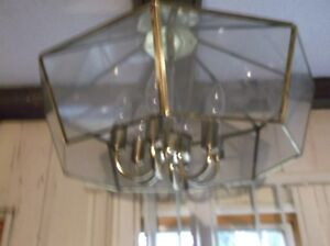 hanging lamp with 6 tear drop bulbs-excellent condition