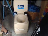 Camping caravan toilet