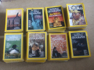 Lot de 80 National geographic en anglais, Prix pour le lot