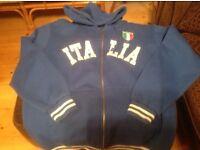 Blue Italy zip hoody