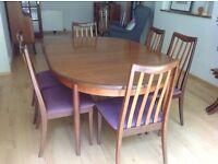 G Plan Danish Teak Dining Table & Chairs