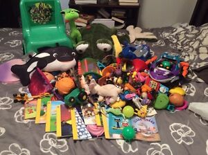 Toy lot including 11 books $10