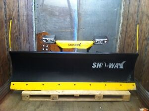 8ft 29 had series steel sno-way plow with harness and bracket