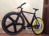super sweet FIXIE wheel - roue pour velo PIGNON FIXE - carbon