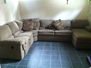 Large family size Lazy Boy Sectional for Sale