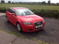 2006 Audi A3 1.6 Red 5 door special Edition full mot full leather