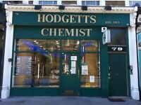 PHARMACY COUNTER STAFF Full-Time 42.5hrs per week London NW8