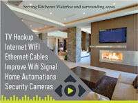 Entertainment System - TV Hookup - Cables Installation