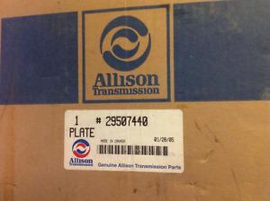 Allison Transmission Plate