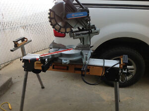12in compound sliding miter saw and compressor