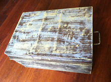old vintage metal box shabby chic antique Southport Gold Coast City Preview