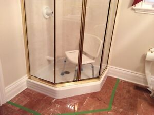 New shower doors and base