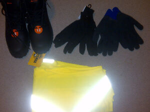Winter/Work Boots, Gloves and Vest