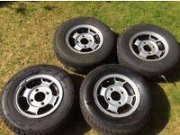 """10"""" mini alloys and tyres"""