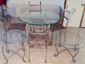 Wrought Iron Kitchen Set / Delivery Included
