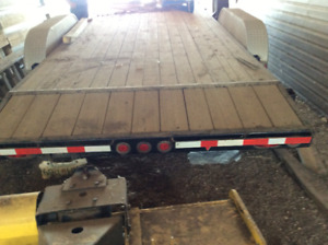22x7 flat bed trailer