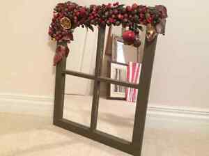 "Fruit trimmed Victorian  Window Mirror 23""x19"""