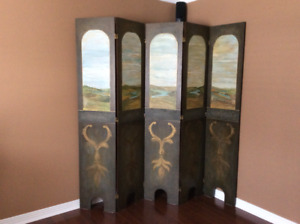 ONE OF A KIND-HAND PAINTED-PANEL ROOM DIVIDER