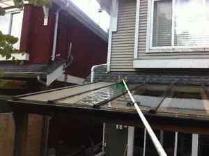 Gutter Scrubbing And Yard Clean Up! Cleaning W/O Chemicals North Shore Greater Vancouver Area image 4