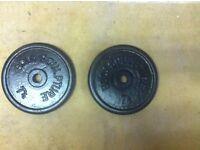 15kg 2x7.5kg CAST IRON WEIGHTS