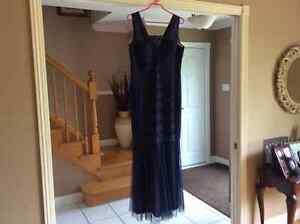 Mother of the bride dress colour navy.