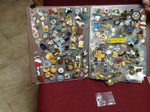 Collection de pins des années 70,80 et 90