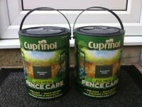Good quality wood / fence stain treatment - Two 5 litre tins