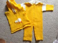 Knitted baby costume